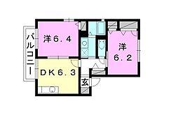 シャーメゾン東垣生 C棟[202 号室号室]の間取り