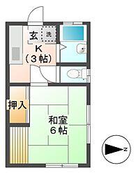 児玉コーポ[2階]の間取り