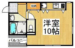 PARK VIEW勝田台[2階]の間取り