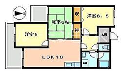 ガーデンハイツ桃山台壱番館[1階]の間取り