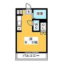 ニューコンフレール武石[1階]の間取り