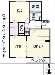 プレミールボヌールH棟[3階]の間取り