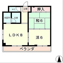 TK矢倉[8階]の間取り