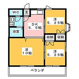 オアシス[3階]の間取り