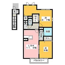 カルミア[2階]の間取り