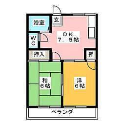 ル・マン柳原[2階]の間取り
