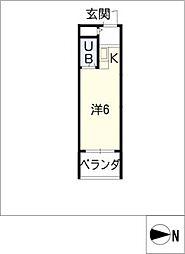 スタジオ26[4階]の間取り