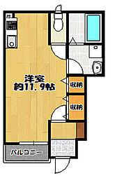 山口町名来 新築アパート[102号室]の間取り