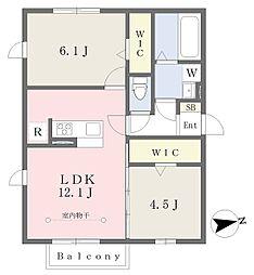 JR京浜東北・根岸線 洋光台駅 徒歩15分の賃貸アパート 1階2LDKの間取り