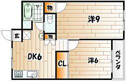 シェリール井堀通り[605号室]の間取り