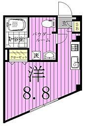 千葉県松戸市東松戸4丁目の賃貸マンションの間取り