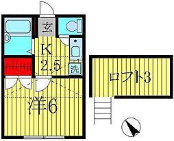 レオパレスミウラII[1階]の間取り