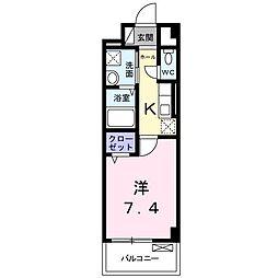 ソレイユ オクナガ 武庫之荘[3階]の間取り