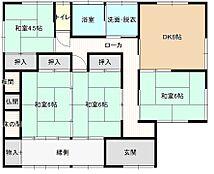 間取りは4DKの平屋になります。北西側の和室を洋室へ間取り変更予定です。