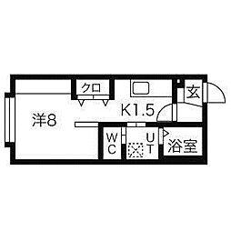 クレアN26[4階]の間取り