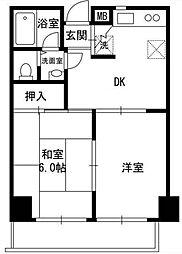 ハイツG-ONE[6階]の間取り