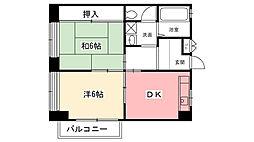 ラントベルク夙川[301号室]の間取り