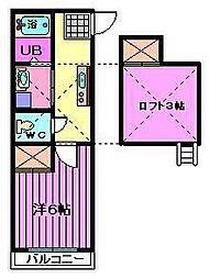 ピュアハウスIIIIII[3101号室]の間取り