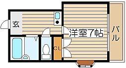 ラパンジール恵美須3[2階]の間取り
