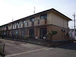 群馬県高崎市中泉町の賃貸アパートの外観