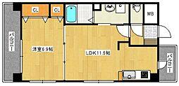 フォーウィルズコートII[3階]の間取り