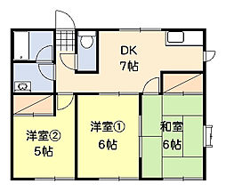 [テラスハウス] 神奈川県平塚市片岡 の賃貸【/】の間取り