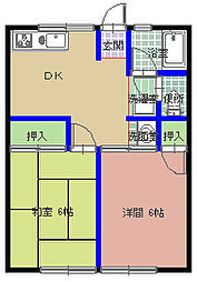 シティハイム・YASAKA[106号室]の間取り