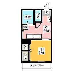 シャトーローリエ博多[2階]の間取り