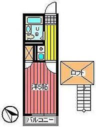埼玉県さいたま市浦和区瀬ヶ崎4丁目の賃貸アパートの間取り