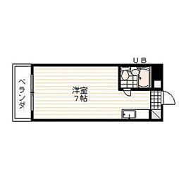 ヴィラ松沢B[303号室]の間取り