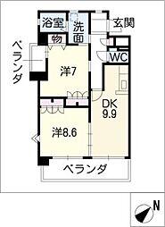 ヴェルメゾン[2階]の間取り