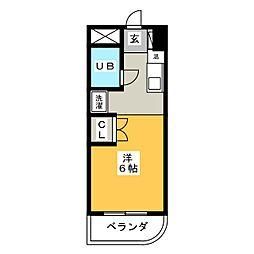 愛知県名古屋市昭和区伊勝町2丁目の賃貸マンションの間取り