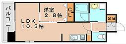 グランフォーレラグゼ箱崎[3階]の間取り