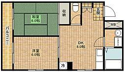 ラベンダーハイツ[2階]の間取り