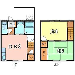 [テラスハウス] 愛知県知立市中町家下 の賃貸【/】の間取り