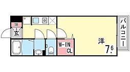 セジュール西岡本[106号室]の間取り