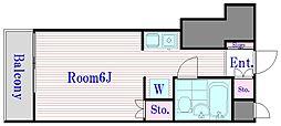 東京都板橋区板橋3の賃貸マンションの間取り