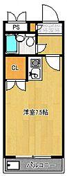 煉瓦館87[103号室号室]の間取り