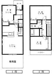 [タウンハウス] 広島県東広島市西条町西条東 の賃貸【/】の間取り