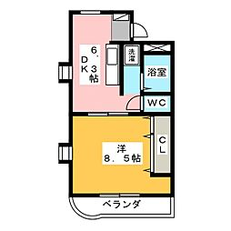 メゾンドオパール[1階]の間取り