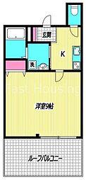 東京都新宿区百人町2丁目の賃貸マンションの間取り
