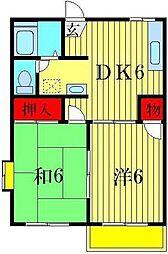 コーポサンケイ[2階]の間取り