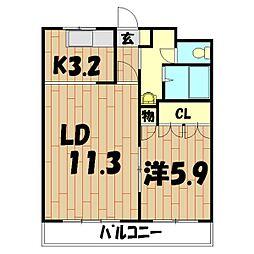 Blue−Ray Seilan[2階]の間取り
