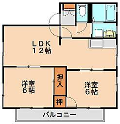 ハピネス25[2階]の間取り