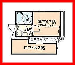東京都荒川区荒川7の賃貸アパートの間取り