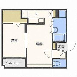 北海道札幌市白石区栄通10の賃貸マンションの間取り