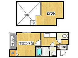ベネフィスタウン井尻III[2階]の間取り