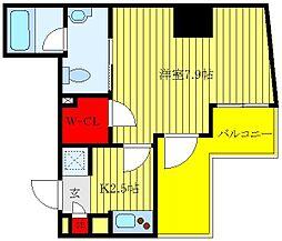 東京メトロ有楽町線 東池袋駅 徒歩6分の賃貸マンション 8階1Kの間取り