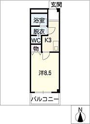 ジュネッセ・シマ[2階]の間取り