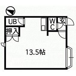 北海道江別市野幌松並町の賃貸アパートの間取り